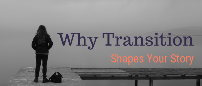 A girl with a backpack. Stands on a pier. Looking out at the water. Blog Post - Title: Why Transition Shapes Your Story - Sueanne Pacheco